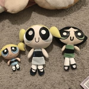 Vintage Powerpuff girls Buttercup and Bubbles
